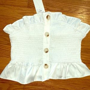 Tops - Button Up Crop Top